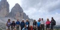 Gruppenfoto vor den Drei Zinnen