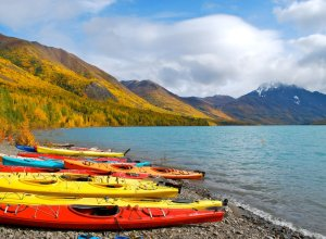 Kayaking at Eklutna Lake - Nicole Geils