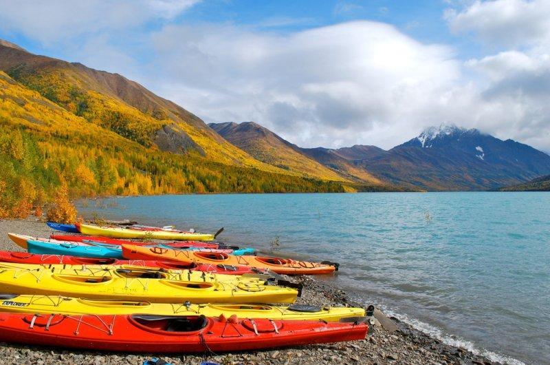 Kayaking at Eklutna Lake - Nicole Geils