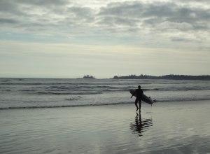 Surfer am Long Beach