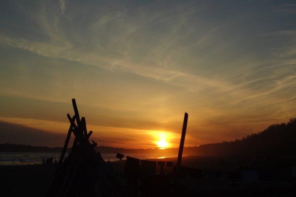 Sonnenuntergang am Long Beach