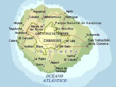 Karte von La Gomera