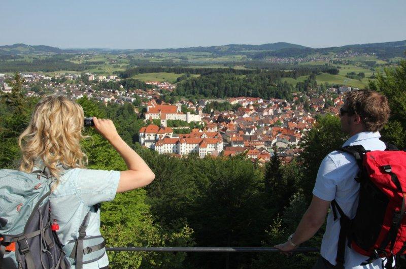 Blick vom Kalvarienberg auf Fuessen