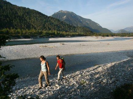 Wanderer am Lech