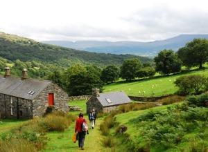 Wales Wandergruppe m Farm
