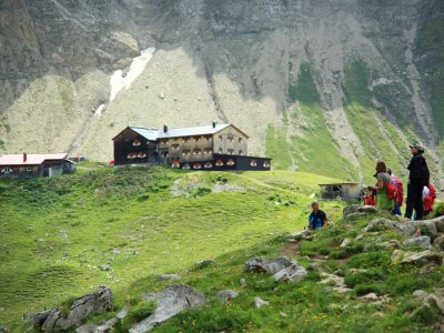 Memminger Hütte auf dem E5