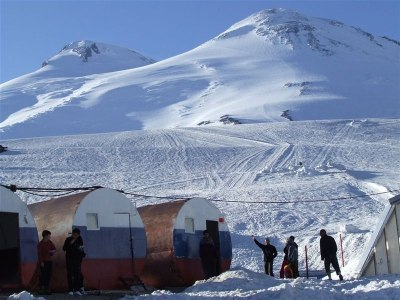 Barrel Hütten am Elbrus