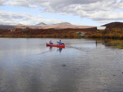 Kanufahrt tangle lake