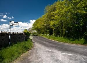 Landstraße in Kerry