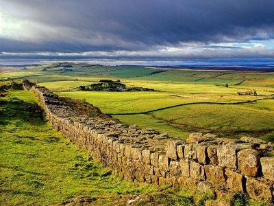 Abendstimmung am Hadrian's Wall