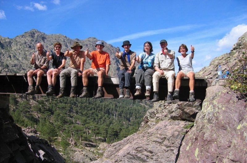 Gruppenbild auf Korsika