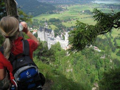 Oberhalb von Schloß Neuschwanstein