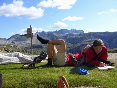 Rast in den Dolomiten