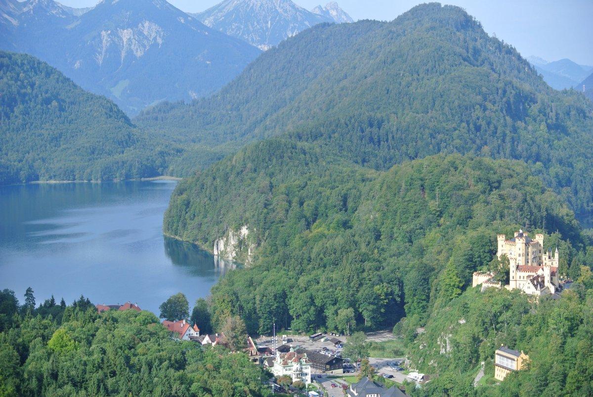Alpseeblick mit Schloss Hohenschwangau