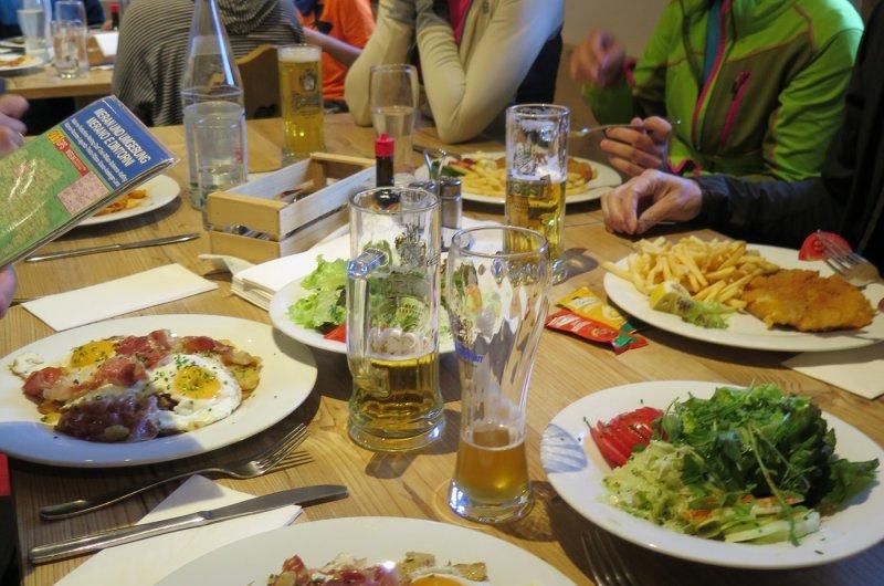 Abendessen Nassereithütte