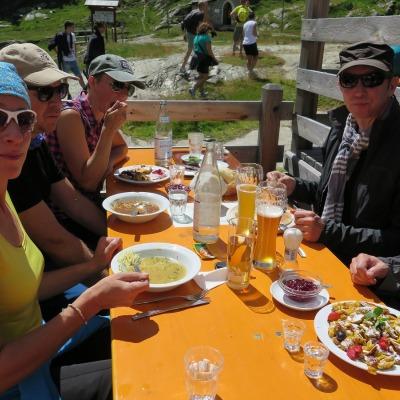 Mittagessen auf der Zufallhütte