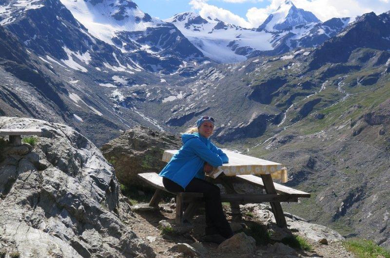 Tamina auf der Marteller Hütte auf 2.610 m