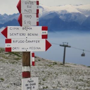 Wegweiser durch die Brenta Dolomiten