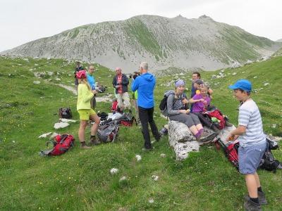 Rast bei der Durchquerung der Brenta Dolomiten