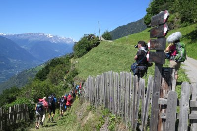 Meraner Höhenweg 2. Tag Nähe Giggelberg