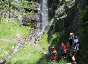 Meraner Höhenweg 2. Tag Wasserfall