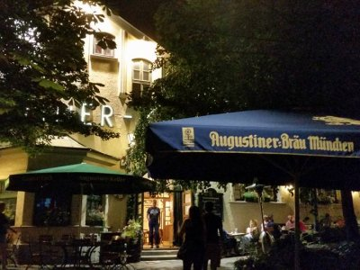 Biergarten in München