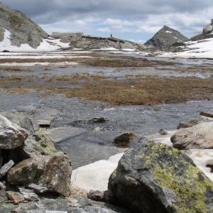 Plateau mit Schnee