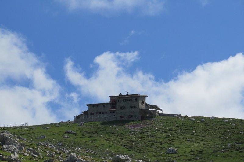 Pindos Gebirge - Astraka Hütte in Sicht