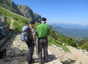Pindos Gebirge -Rastplatz mit Fernsicht
