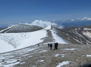 Mt. Olympus - am Grat entlang zum Gipfel