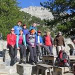 Abstieg - Gruppenfoto mit Mt. Olympus