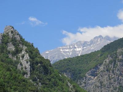 Enepea Schlucht - Rastplatz mit Blick zum Mt. Olympus