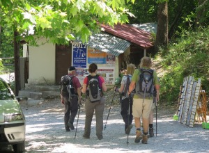 Litochoro - Ankunft im Dorf