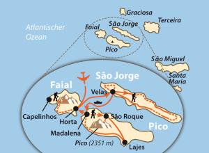 Übersichtskarte Azoren