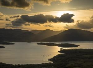 Sonnenuntergang Highlands Schottland