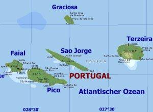 Karte: Azoren