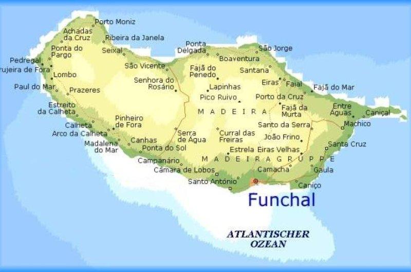 Karte: Madeira