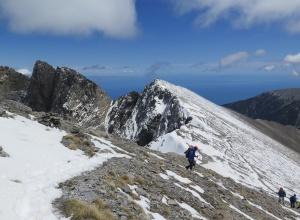 Mt Olymus - Blick zum höchten Punkt Mytikas 2.917 m