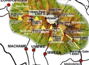 Karte Kilimanjaro