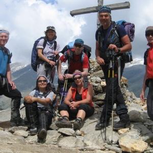 Gipfelflück am Becca del Traversiere im Aosta Tal