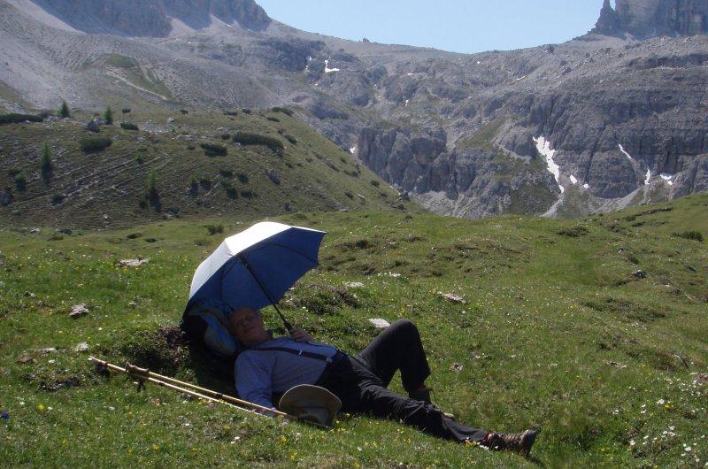 Pause in den Dolomiten