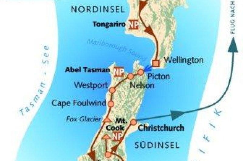 Karte: Neuseeland