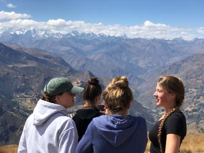 Blick auf die Cordillera Huayhuash