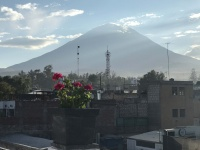 Blick aufVulkan Misti von Arequipa