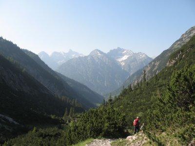Abstieg ins Lechtal