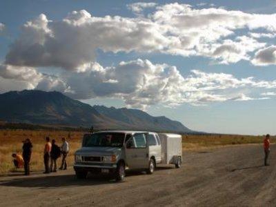 Pause am Denali Highway