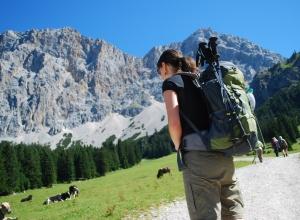 Wandern am Fuße der Zugspitze