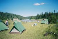 Zelte in den Rockies