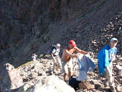 Korsika - felsiger Aufstieg