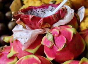 Drachenfrucht auf dem Markt in Funchal